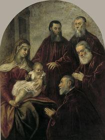 Tintoretto, Madonna mit vier Senatoren by AKG  Images