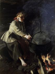 Anders Zorn, Im Herdhaus / 1906 von AKG  Images