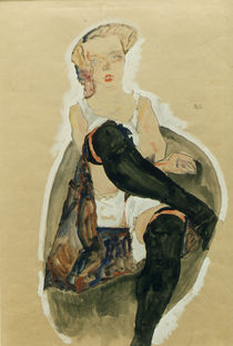 Egon Schiele, Maedchen mit uebereinander.. by AKG  Images