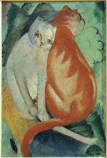 F.Marc, Katzen, rot und weiss von AKG  Images