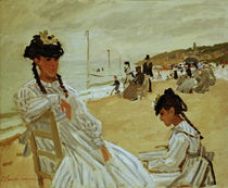 Claude Monet, Am Strand in Trouville by AKG  Images