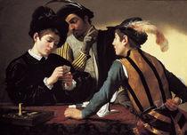 Caravaggio, Die Falschspieler by AKG  Images