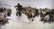 Surikow, Einnahme der Schneestadt by AKG  Images
