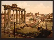 Rom, Forum Romanum, Saturntempel / Foto von AKG  Images