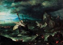 J.Brueghel d.Ae., Seesturm mit Schiffbr. by AKG  Images