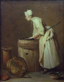 J.B.S.Chardin, Die Kesselputzerin von AKG  Images