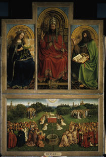 Deesis / Jan van Eyck, Genter Altar 1432 von AKG  Images