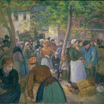 C.Pissarro, Der Gefluegelmarkt by AKG  Images