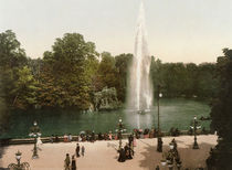 Wiesbaden, Kochbrunnen / Photochrom by AKG  Images