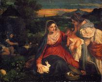 Tizian, Maria mit Kaninchen / Gem. by AKG  Images