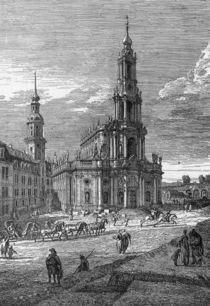 Dresden, Hofkirche / Rad.v.Bellotto von AKG  Images