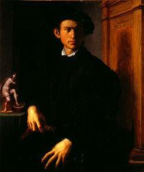 A.Bronzino, Junger Mann mit Laute by AKG  Images