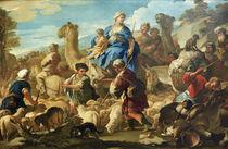 L.Giordano, Abreise Rebekkas nach Kana by AKG  Images