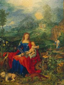 J.Brueghel d.Ae., Maria mit vielen Tieren by AKG  Images