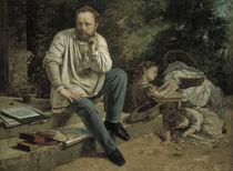 G.Courbet, Proudhon u. seine Kinder von AKG  Images