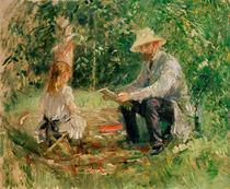 B.Morisot, Eugene Manet und Tochter by AKG  Images