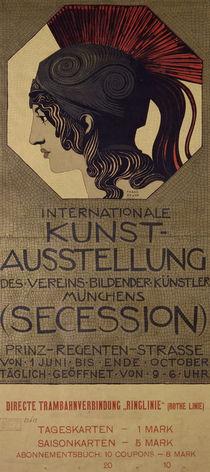 F.v.Stuck / Plakat Int. Kunstausstellung by AKG  Images