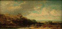 C.Spitzweg, Landschaft mit Flusstal von AKG  Images
