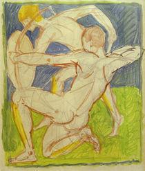 A.Macke, Bogenschuetze / Aquarell, 1911 von AKG  Images