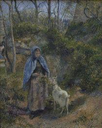 C.Pissarro, Frau mit Ziege by AKG  Images