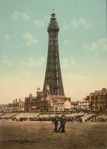 Blackpool, Tower / Photochrom von AKG  Images