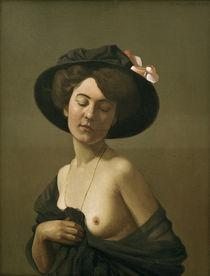 F.Vallotton, Frau mit schwarzem Hut von AKG  Images