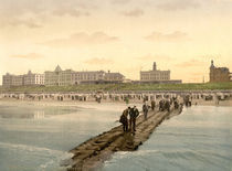Borkum, Strand / Photochrom by AKG  Images
