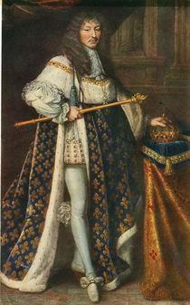 Ludwig XIV. m. Kroenungsmantel/P.Mignard by AKG  Images