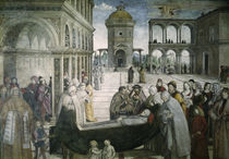 Pinturicchio, Begraebnis Hl.Bernhardin von AKG  Images