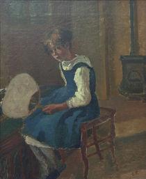 C.Pissarro, Portraet von Jeanne m.Faecher by AKG  Images