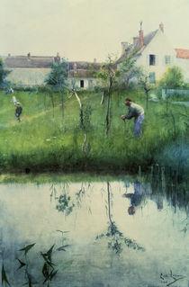 Carl Larsson, Beschneiden der Baeume/1883 by AKG  Images