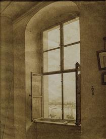 C.D.Friedrich, Blick aus dem Atelier.. by AKG  Images