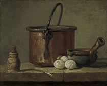 J.B.S.Chardin, Stillleben mit Kupferkess von AKG  Images