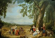 Ferdinand IV.u.Familie bei Ernte/Hackert by AKG  Images