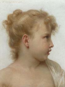 W.A.Bouguereau, Kopfstudie Maedchen von AKG  Images