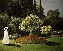 C.Monet, Dame im Garten/ 1867 von AKG  Images