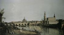 Dresden vom Brueckenkopf / Bellotto by AKG  Images