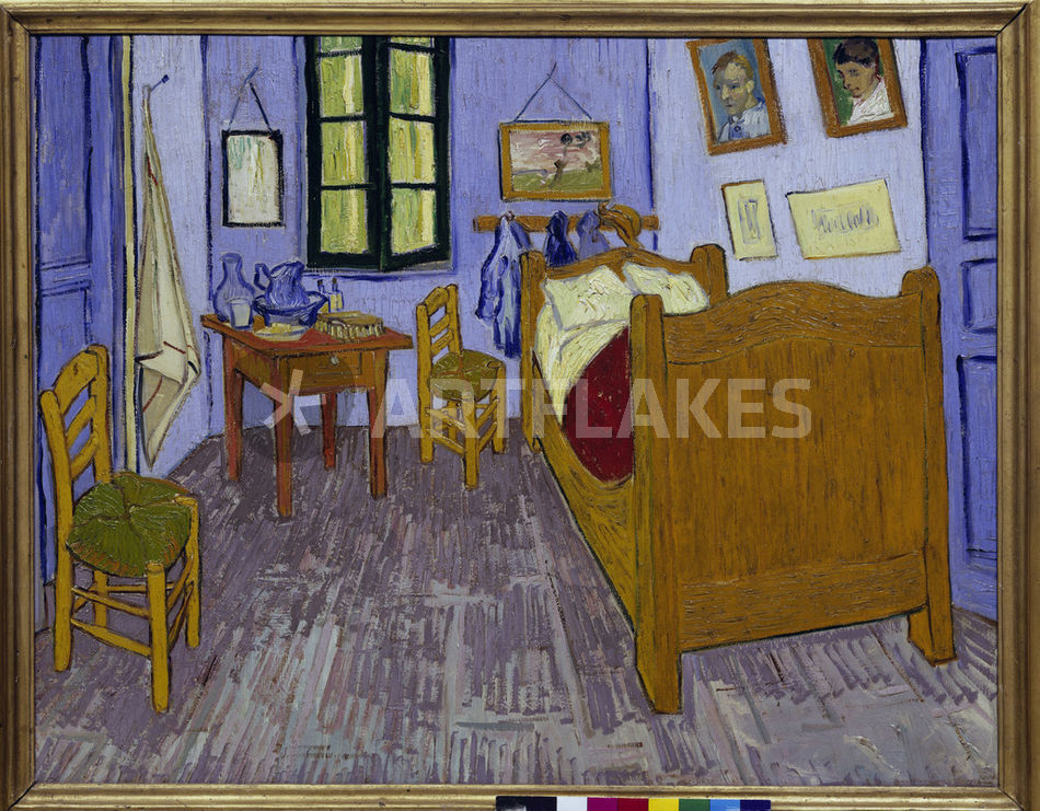 "van gogh / schlafzimmer in arles / 1889"" picture art prints and, Schlafzimmer ideen"