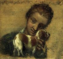 P.Veronese, Junge Frau mit Hund by AKG  Images