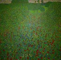 Gustav Klimt, Mohnwiese by AKG  Images