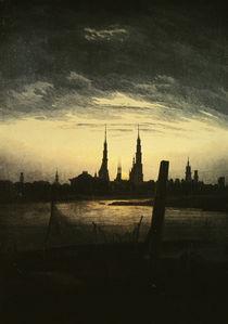 C.D.Friedrich, Stadt bei Mondaufgang1825 von AKG  Images