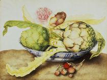 G.Garzoni, Schale mit Artischocken von AKG  Images