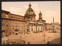 Rom, Piazza Navona / Photochrom von AKG  Images