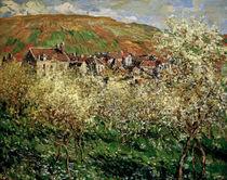C.Monet, Bluehende Zwetschgenbaeume by AKG  Images