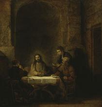 Rembrandt, Christus in Emmaus by AKG  Images