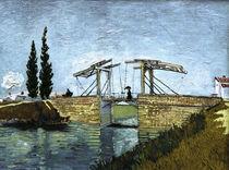 V.van Gogh, Bruecke Langlois mit Dame by AKG  Images