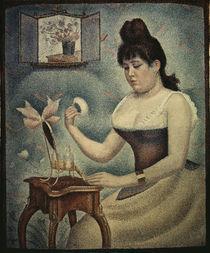 Georges Seurat, Sich pudernde Frau von AKG  Images