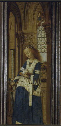 Jan van Eyck, Die Heilige Katharina by AKG  Images
