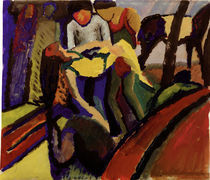 August Macke, Gestuerzt by AKG  Images