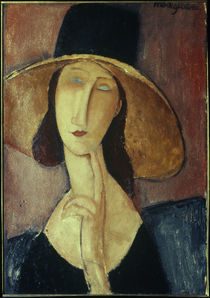 A.Modigliani, Frau mit grossem Hut by AKG  Images